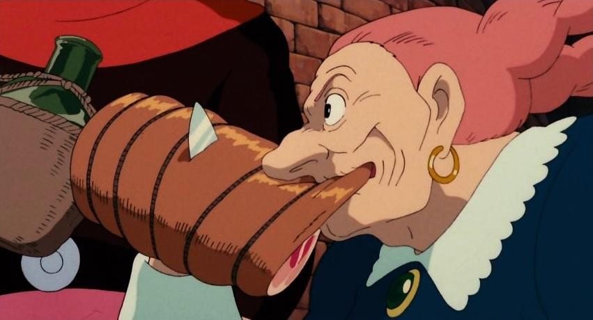 肉を豪快に食べるドーラ